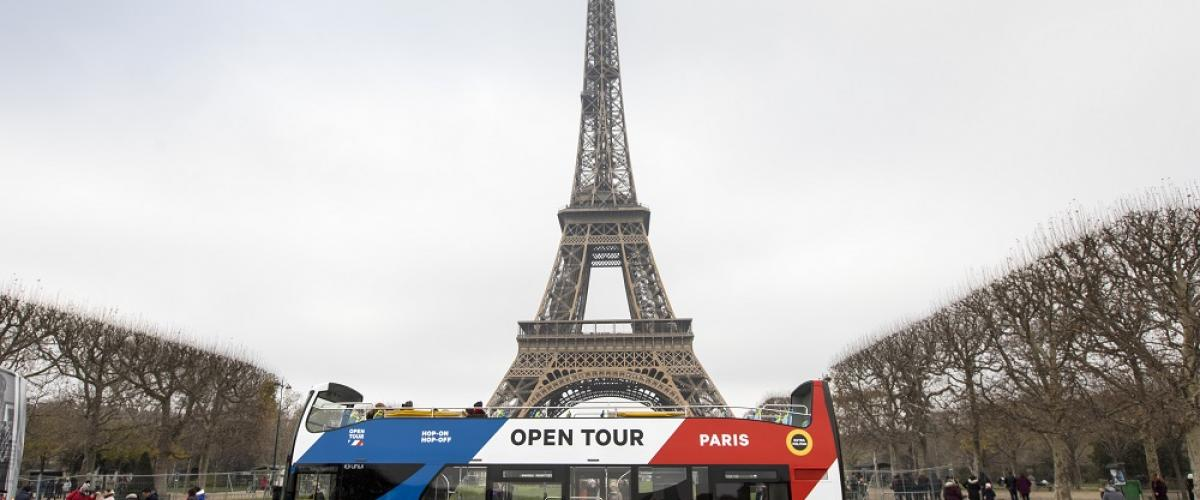 Paris France Bus Mobilité Open Tour sightseeing
