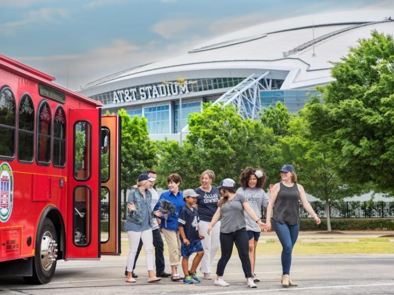 Arlington trolley at AT&T stadium